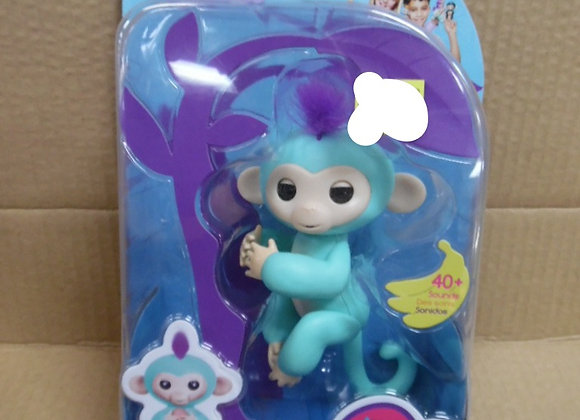 WowWee Fingerlings Baby Monkey Light Blue