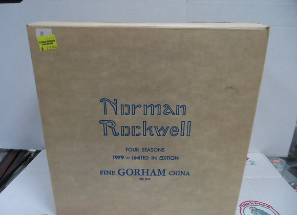 "new in box.  GORHAM china. Norman Rockwell ""four seasons"""
