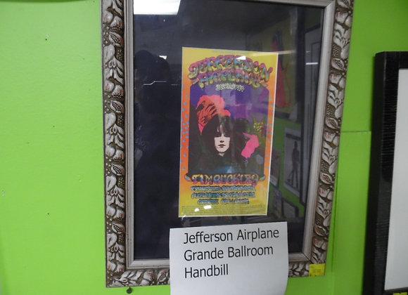 Jefferson Airplane Grande Ballroom Handbill