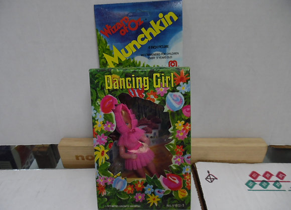 "Wizard of Oz Dancing Girl Munchkin Figure. Circa 1975. 4""tall"