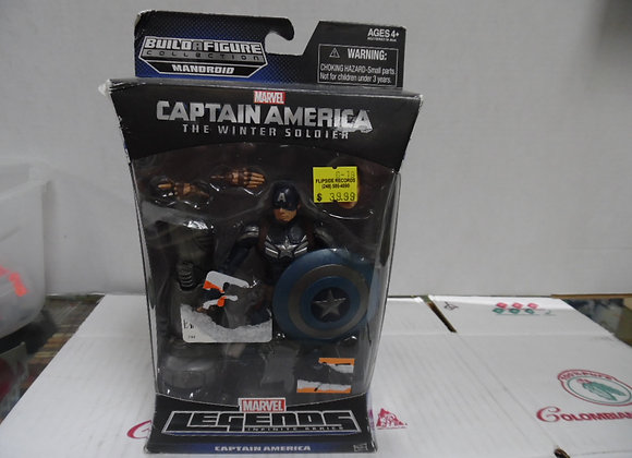 new in package.marvel legends captain america figure build a figure