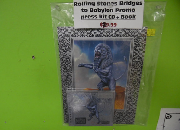 Rolling Stones Bridges to Babylon Promo Press Kit CD & Booklet