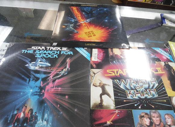 Star Trek , Star Trek 3 ,and Star Trek 6 on LaserDisc