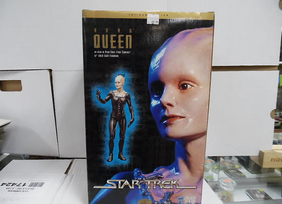 """STAR TREK new in box borg queen 12""""cold cast figurine by playmates"""