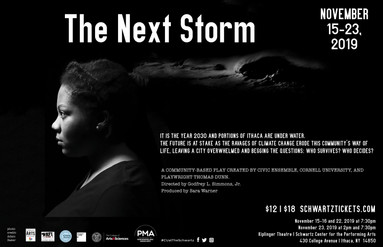 Poster Image. Storm brewing in background with actor in profile.