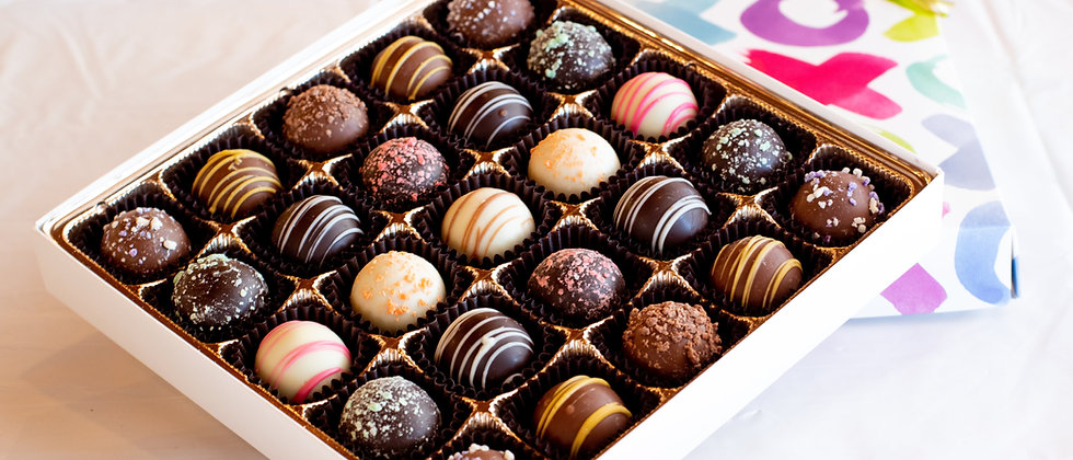 25 Piece Large Chocolate Truffle Box