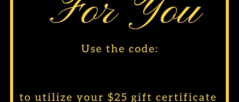 Online Gift Certificate