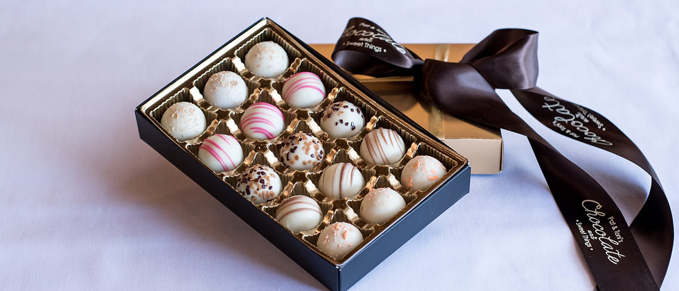 White Chocolate Deluxe Truffle Box