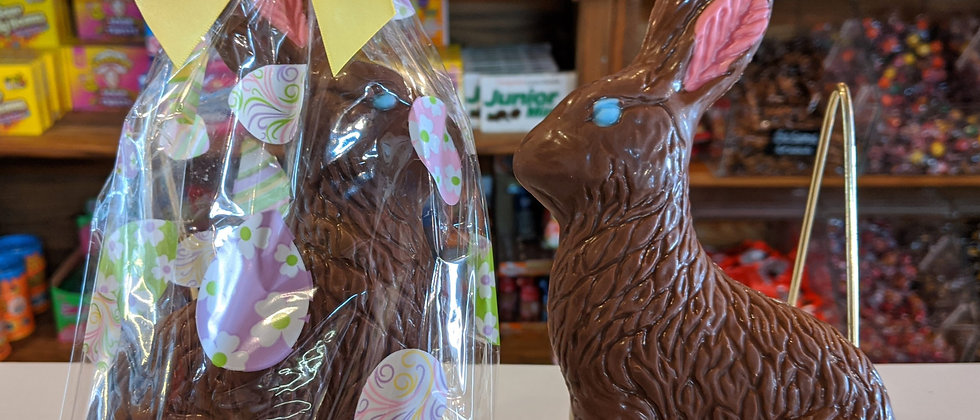 Large Solid Chocolate Easter Bunny