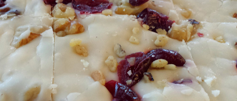 White Cranberry Walnut Fudge