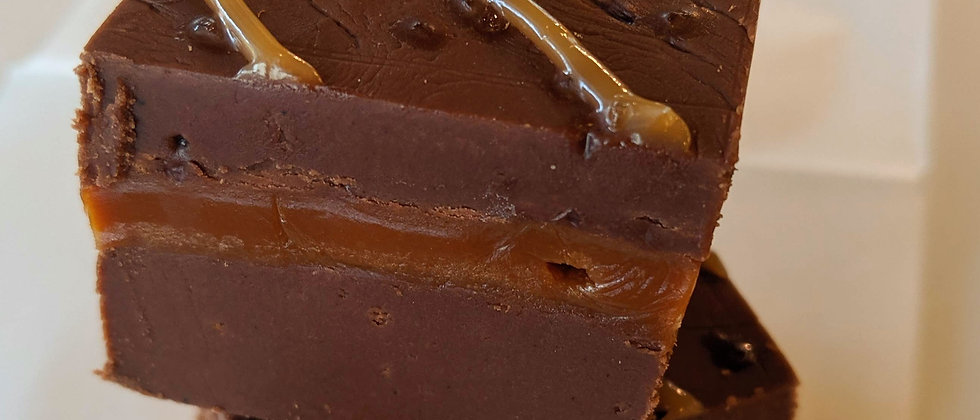 Dark Chocolate Sea Salt Caramel Fudge