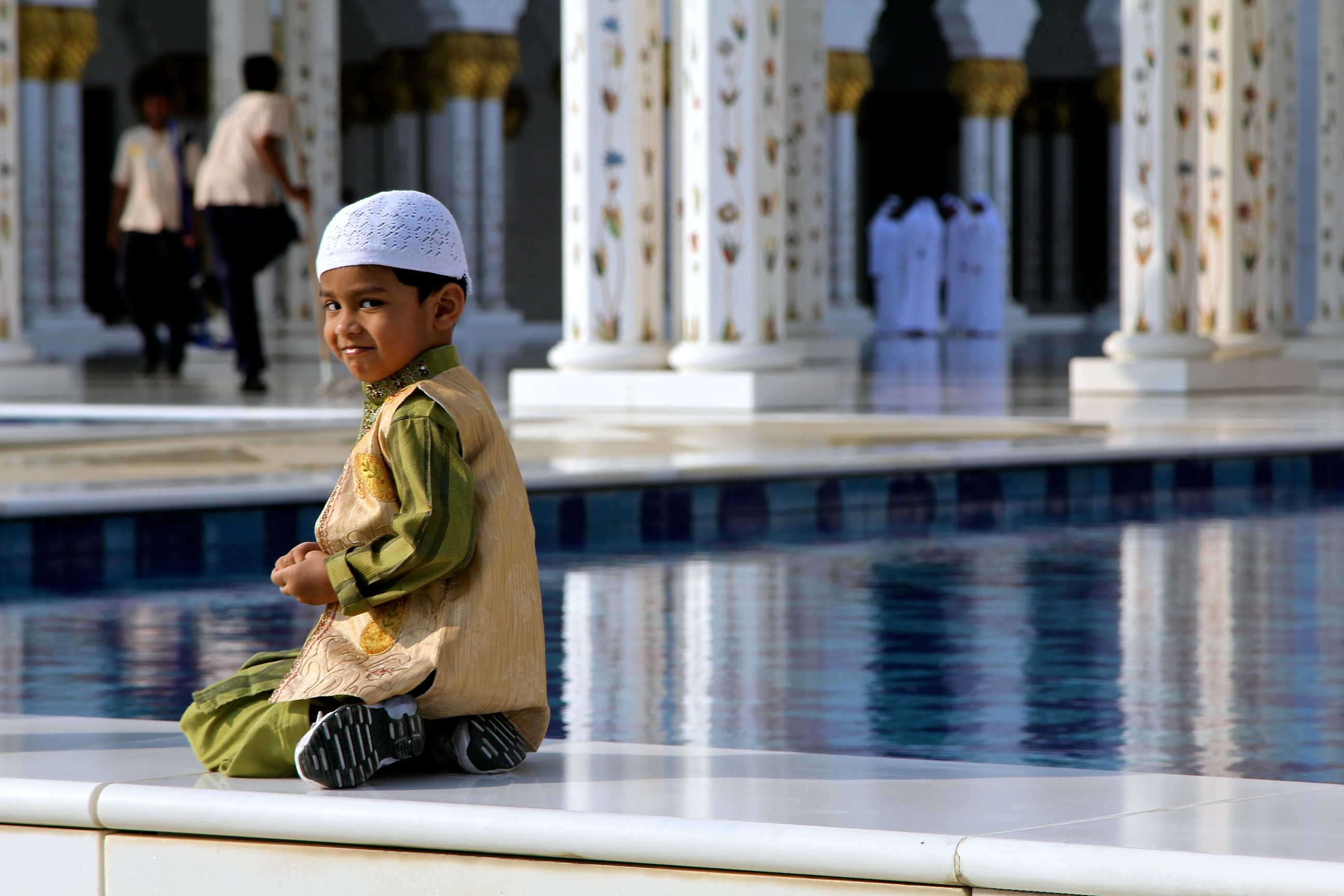 Boy in Mosque, Abu Dhabi