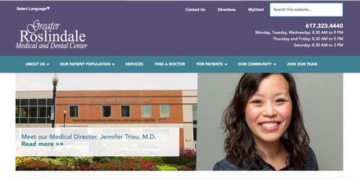 Greater Roslindale Medical and Dental Center Website