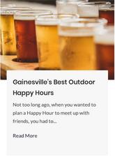 Gainesville's Best Outdoor Happy Hours