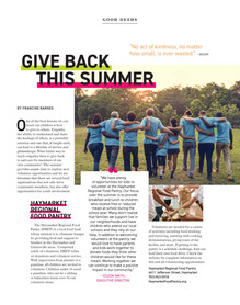 Give Back This Summer