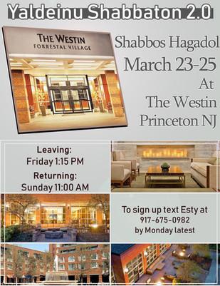 Shabbos Hagadol Shabbaton