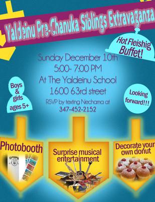 Chanuka Party For Yaldeinu Siblings