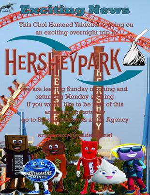 Sukkos Chol Hamoed Hershey Park Overnight