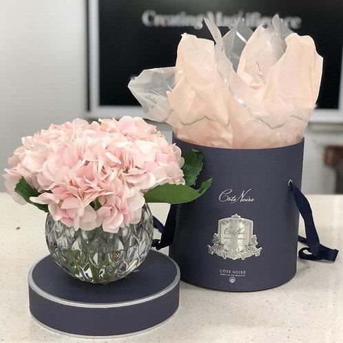 Hydrangea Flower Diffuser in Herringbone Vase