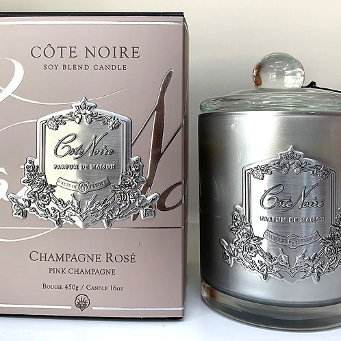 Cote Noire 450gm Candle - Pink Champagne