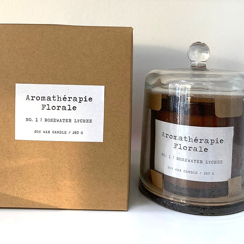 Le Desire 283 gm Aromatherapy Florale Candle - Rosewater Lychee