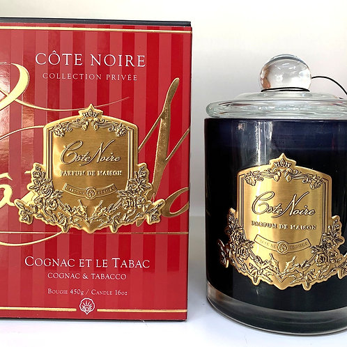 Cote Noire 450gm Candle - Cognac & Tobacco