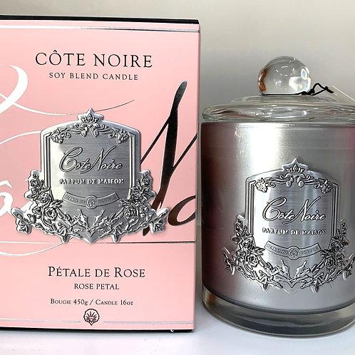 Cote Noire 450gm Candle - Rose Petal