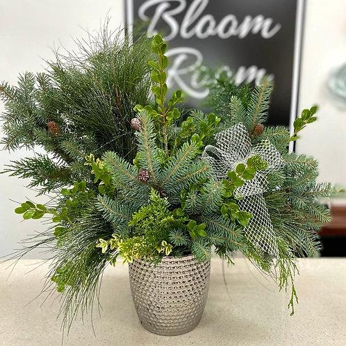 Christmas Pot Green