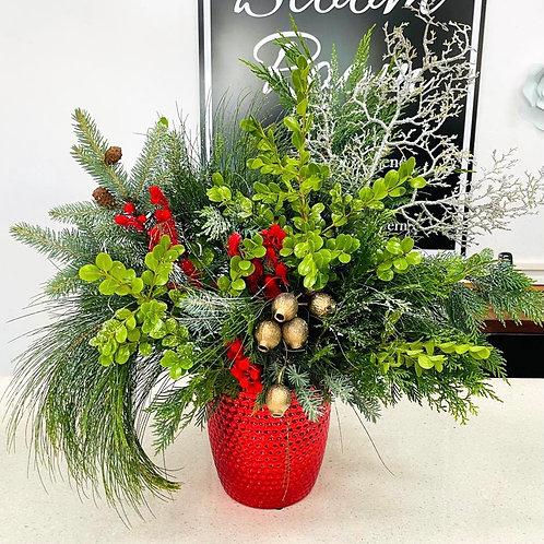 Christmas Pot Red