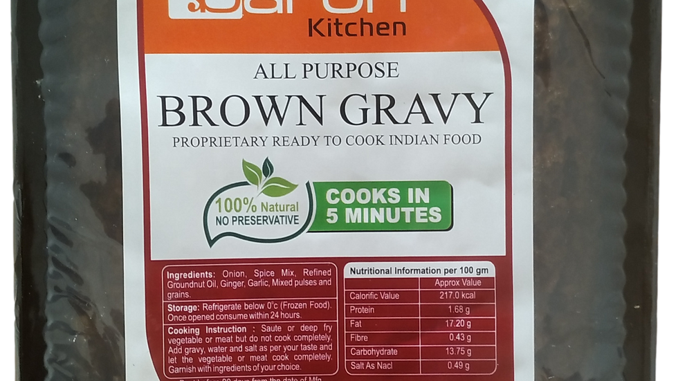 Brown Gravy - Saoji (Frozen)