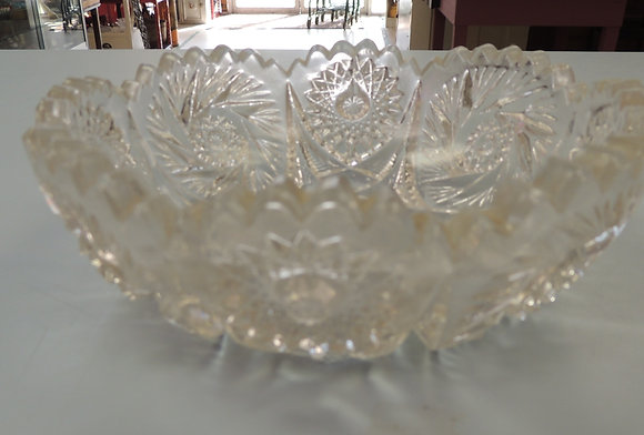"6.5"" Clear Glass Candy Dish"