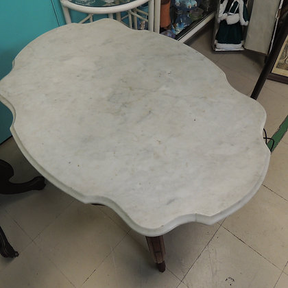 Victorian Style Mahogany Marble Top Side Table