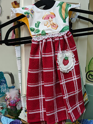 Handcrafted Red Fruit and Vegetable Dress Tea Towel WTT-55-2020