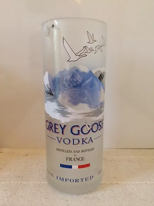 Glass, Grey Goose, tall