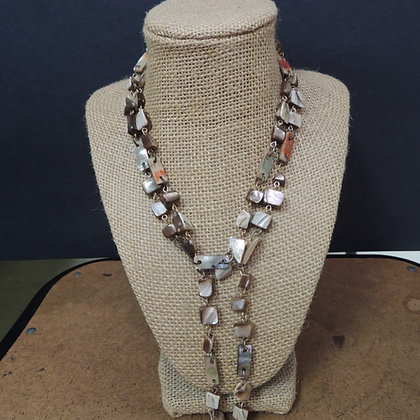 "32"" Beaded (simulated cut stone) Necklace"