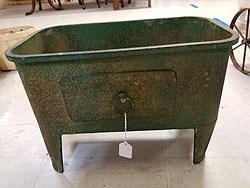 GREEN METAL BASIN -408993