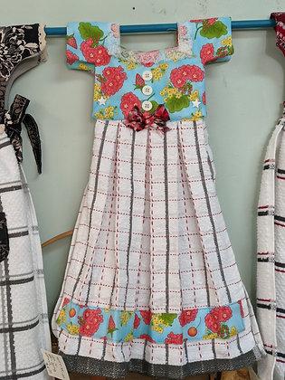 Handcrafted Flowers Dress Tea Towel WTT-45-2020