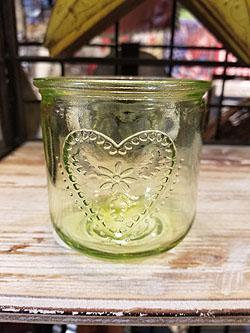 "GREEN TEALITE CANDLE HOLDER 3"" - 5088129"