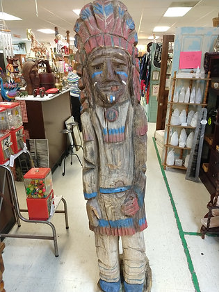 Circa 1900's Cigar Store Wooden Indian