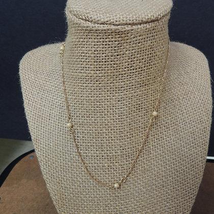 """12"""" Fine Chain Gold Tone Necklace"""
