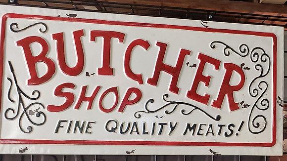 Butcher Shop Sign Metal