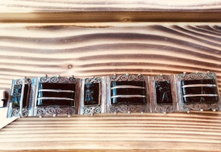 Vintage Egyptian Revival Panel Bracelet