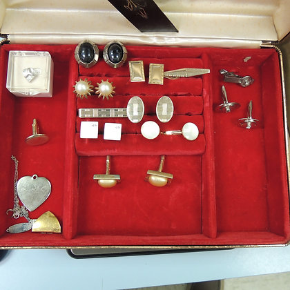Jewelry Box w/ Cuff Links Tie Bars etc