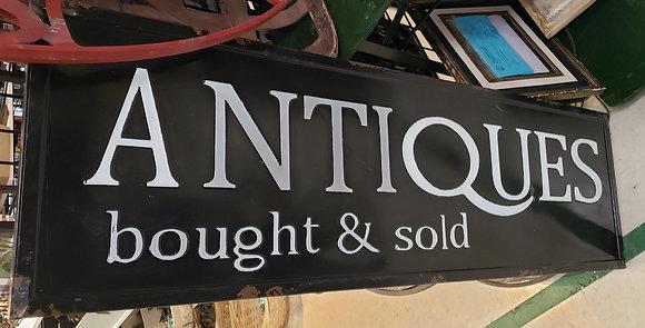 Antiques Sign Metal