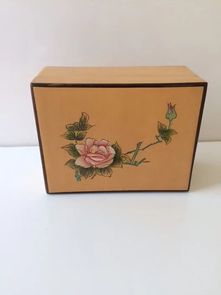 Wooden Box Rose on Top