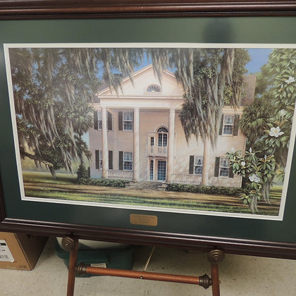"""1998 Jim Booth Lithographic Print """"Southern Plantation"""""""