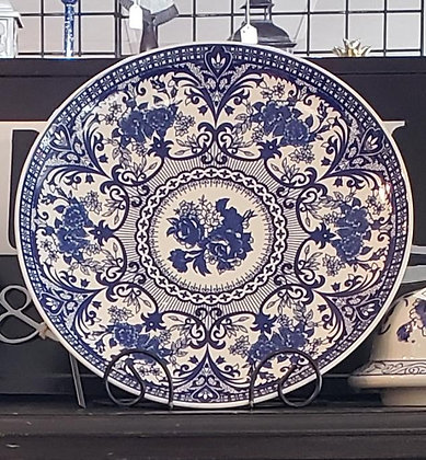 Blue & white Pound Platter