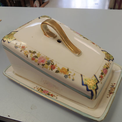 Hand Painted Nippon Cheese Tray and Cover