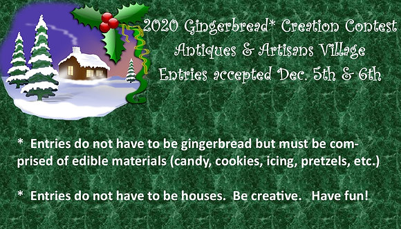Ginger Bread Contest Entry Fee