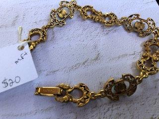 Vintage Firenza Italian goldton bracelet